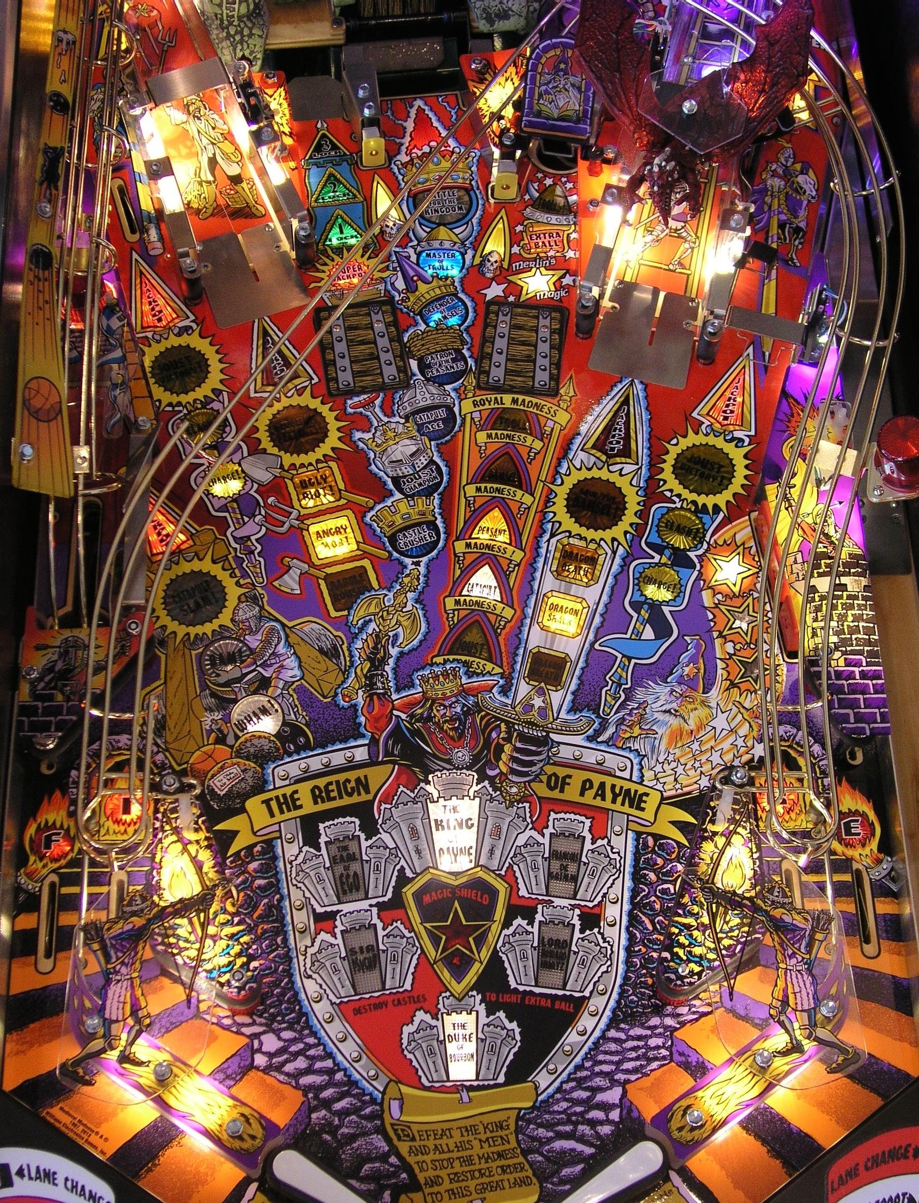 Medieval Madness Remake Mmr Planetary Pinball Supply Tm