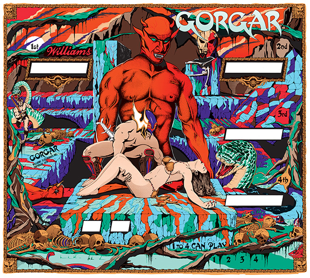 Gorgar (Williams) Blackglass – Silkscreened w/Mirror